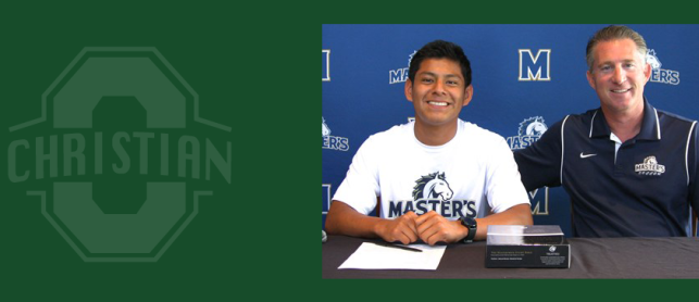 Bryan Zarate signs with The Master's College