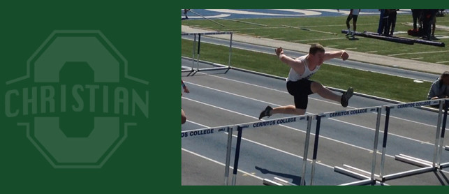 Nathaniel Belden breaks school record in the 110 Meter High Hurdles