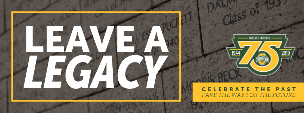 Leaving a legacy. Celebrate the Past and pave the way for the future. Background image with legacy pavers.